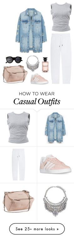 """""""Senza titolo #1623"""" by granatina on Polyvore featuring LE3NO, Dsquared2, T By Alexander Wang, Givenchy, Louis Vuitton, Yves Saint Laurent, adidas and brunch"""