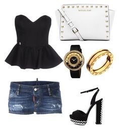 """""""Untitled #1"""" by eua-anagnwstou on Polyvore featuring Philipp Plein, Dsquared2, Bulgari and Michael Kors"""