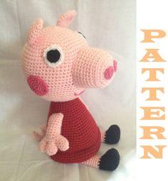 This is sooo cute...  Amigurumi Peppa Pig Crochet Pattern by MetricMama