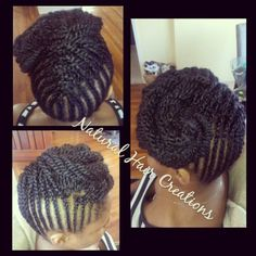 Cornrows kinky twists natural hair