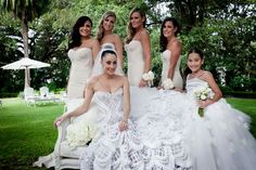 Love These Bridesmaid Corset Dresses The Royal Wedding Of Anthony Minichiello And Terry Biviano