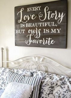 Hand-lettered Headboard Sign