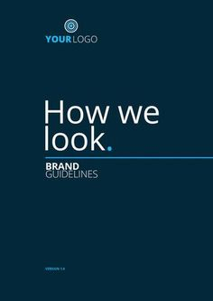 How We Look - Brand Guidelines Demo A 12 page brand/logo guidelines booklet, complete with wording and no filler text. (click front cover to purchase) Identity Design, Brochure Design, Brand Identity, Business Branding, Logo Branding, Logo Guidelines, Bedroom Minimalist, Web Design, Logo Design