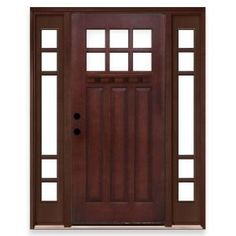 Exterior doors on pinterest fiberglass entry doors for Home depot exterior doors with sidelights