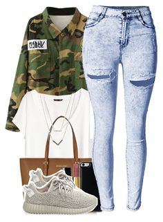"""""""Something Simple"""" by polyvoreitems5 ❤ liked on Polyvore featuring H&M, Michael Kors, Gooey, Chanel and adidas Originals"""