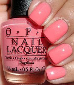 Sorry I'm Fizzy Today by OPI - A flamingo feather pink Coral Nail Polish, Opi Nail Colors, Nail Lacquer, Gel Polish, Stylish Nails, Trendy Nails, Fancy Nails, Cute Nails, Smart Nails