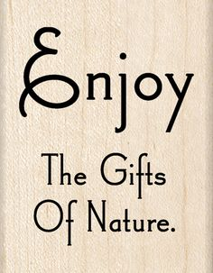Inkadinkado - Wood Mounted Stamps - Nature Quote at Scrapbook.com