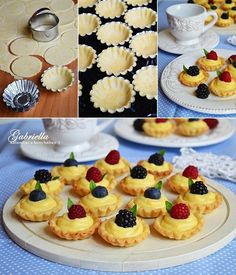 The Novel Bakers Present: The Vintage Tea Party Book! Fancy Cookies, Cake Cookies, Easy Desserts, Dessert Recipes, Mini Tart, Cherry Cake, Bakery Recipes, No Bake Cake, Food To Make