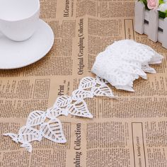 Exquisite Hollow White Leaves Lace Embroidery Applique Trim Sewing Fabric DIY Y102-in Lace from Home & Garden on Aliexpress.com | Alibaba Group