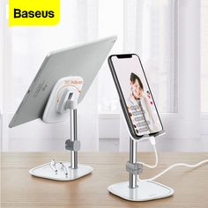 cell phone holder for table - Desk Mobile Phone Holder Stand For iPhone Cell Universal Adjustable Metal Desktop Table Tablet Holder Stand For iPad Pro Desk Phone Holder, Smartphone Holder, Tablet Holder, Smartphone Hacks, Ipad Stand, Tablet Stand, Phone Stand, Ipad Pro, Adjustable Desktop