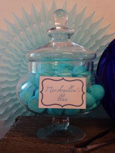 Candybar blue/white Wedding