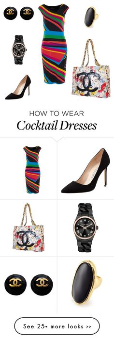 """Untitled #149"" by aprilrose29 on Polyvore featuring Manolo Blahnik, Chanel, Michael Kors and Kenneth Jay Lane"