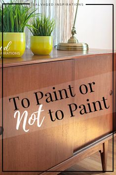 To Paint or Not To Paint| Should I Paint It? | Salvaged Inspirations    #MCM #mcmcabinet #nopaintneeded #curbsidecabinet Raw Wood Furniture, Unfinished Wood Furniture, Painting On Wood, Projects To Try, Inspiration, Home Decor, Biblical Inspiration, Homemade Home Decor, Interior Design