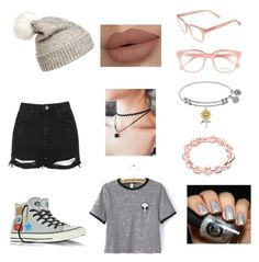 """Tumblr Girl"" by aenahid on Polyvore featuring beauty, Topshop, WithChic, Derek Lam and Converse"