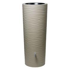 Exaco Wave 92 Gallon Plastic Rain Barrel Sahara - 326152 ST