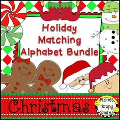 This set is our bundle alphabet matching cards. There are 75 pages total in this packet. Tons of fun for Pre-K through 1st Grade.5 Sets included:Santa and ElfPeppermintsElf ShoesSnowmen/SnowflakesGingerbread KidsThe children can use the cards in a variety of ways!These are great for alphabet sequencing, matching, sorting, mini word walls, letter-of-the-day, etc.