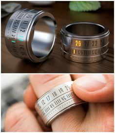 The outer ring rotation activates the LED lights so you can see the time around the ring