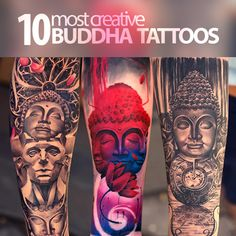 Around the world tattoo artists are creating incredible, breath-taking creative impression of Buddha. From the scripts to Buddha portraits to full body...