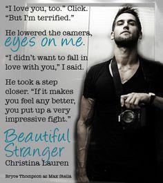 'eyes on me' Beautiful Stranger by Christina Lauren – Bryce Thompson as Max Stella