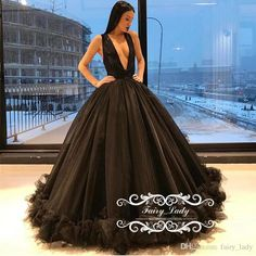 Women Deep V Neck Black Evening Dresses Wear Long Sexy Sleeveless Pleat Puffy A Line Runway Red Carpet Formal Prom Gowns 2017 African Evening Dresses Black Lace Evening Dress From Fairy_lady, $135.53| Dhgate.Com