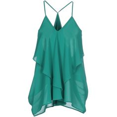Minimum Top (52 AUD) ❤ liked on Polyvore featuring tops, green, sleeveless tops, blue sleeveless top, green top, blue green tops and blue top