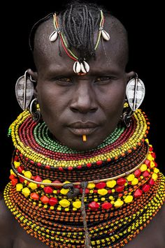 Africa | Turkana woman. Kenya | ©Benoît Feron NEGRITOS Negro black beauty beautiful afro
