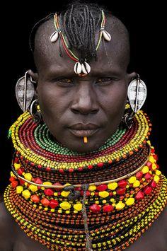 Africa | Turkana woman. Kenya | ©Benoît Feron NEGRITOS Negro black beauty beautiful afro