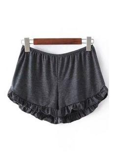 Summer Style Women's Shorts 2016 New Brand Elastic Waist Cotton Shorts Women Beach Casual Rufflers Shorts Loose Short Trousers Black High Waisted Shorts, Loose Shorts, T Shirt And Shorts, Sport Shorts, Comfy Shorts, Jean Shorts, Flowy Shorts, Women's Shorts, Mini Shorts