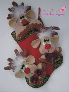 New Post xmas handicrafts Felt Christmas Decorations, Felt Christmas Ornaments, Christmas Love, Christmas Stockings, Christmas Shoes, Felt Crafts, Holiday Crafts, Diy And Crafts, Holiday Decor