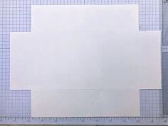Origami-Haus-Box mit Tutorial Tile Floor, Origami, Flooring, Texture, Crafts, Paper, Book Folding, House, Boxing