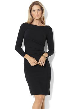 Lauren by Ralph Lauren 'Carrie' Ponte Knit Sheath Dress | Nordstrom
