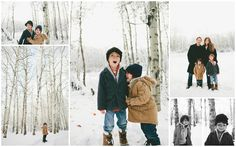 Our latest family photo shoot with Maria Lang, in our backyard, a winter wonderland!