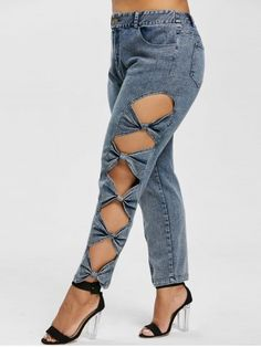 23 best Running Shoes with Jeans Outfits - Outdoor Click Cut Up Jeans, Jeans Style, Denim Fashion, Fashion Pants, Fashion Outfits, Estilo Jeans, Diy Clothes, Clothes For Women, Clothing Sites