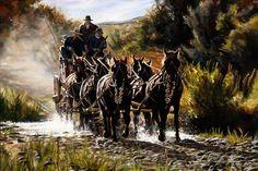 Crossing the Line by Paul Van Ginkel Native Art, Native American Art, Canadian Artists, Old West, Western Art, Various Artists, Cowboys, Westerns, Watercolor Paintings