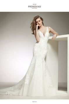 Fitted Lace Fishtail Wedding Dress Drimea By Pronovias