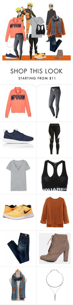 """{Three Looks}: Naruto Uzumaki"" by nerdyatheart ❤ liked on Polyvore featuring NIKE, Ivy Park, J.Crew, Dsquared2 and American Eagle Outfitters"