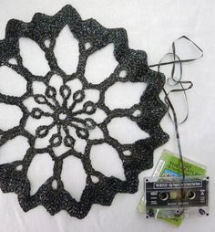 Final Frame: Crochet Doilies Made From Old Cassette Tapes