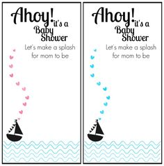 Free Printable Baby Shower Invitation Ahoy It S A Boy