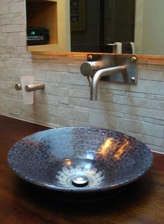 bathrooms with vessel sinks - Google Search