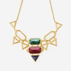 Jewel Multicolor Croc Statement Necklace by ISHARYA Jewelry