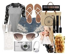 """""""SUMMER!!!!!"""" by sakura-grizzy ❤ liked on Polyvore featuring LE3NO, Silvana, Billabong, Straw Studios, Gucci, Sony, Jules Smith and Forever 21"""