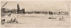 James Abbott McNeill Whistler (American, Old Westminster Bridge, fourth state of four from A Series of Sixteen Etchings of Scenes on the Thames Patrick Heron, James Abbott Mcneill Whistler, Rockwell Kent, Houston Street, Grant Wood, Westminster Bridge, Ellsworth Kelly, Alberto Giacometti, Big Bird