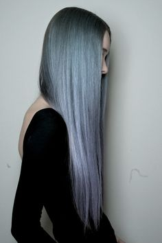 Blue purple ombre hair #hair #pastel #ombre #dyed