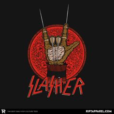 ''Slasher'' by pigboom available today only, 7/21/16, at RIPT Apparel
