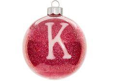 Monogram Glitter Ornament