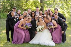 Bridal Party Purple Dresses - Berkshire, MA Wedding - Tricia McCormack Photography