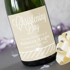 Luxury Personalised Champagne - Christening Day