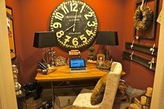 Home Office Re-do....see at pinecreekstyle.blogspot.com