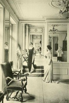 vintage everyday: Edwardian Paris Fashion Houses – Vintage Photos Show Ladies in Tailor Stores in the 1910s