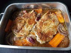 Gros Koteletter - Fra mitt kjøkken Nom Nom, Mad, Pork, Baking, Kale Stir Fry, Bakken, Backen, Pork Chops, Sweets